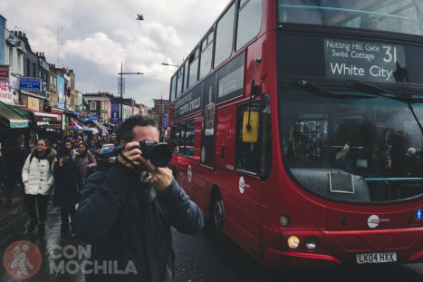Con la Fuji X-H1 en el barrio de Camden de Londres