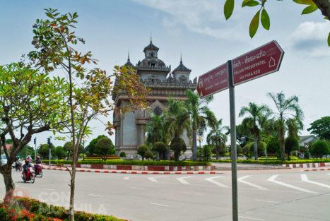 El arco del triunfo de Vientiane