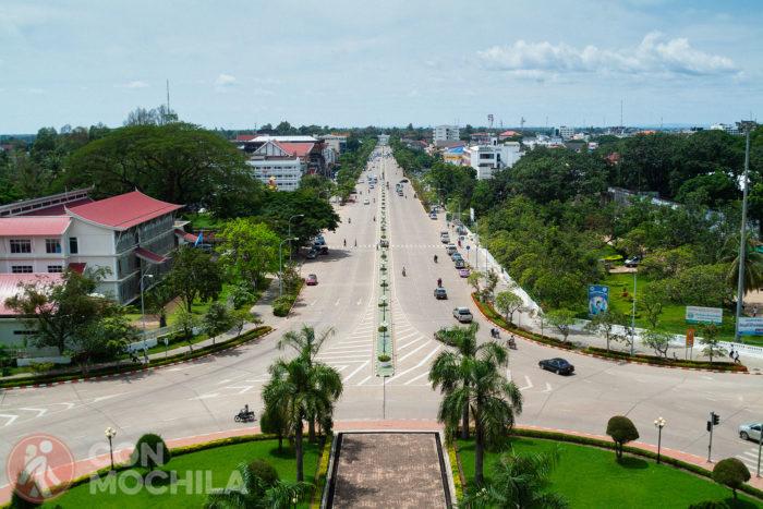 Vista en dirección al río Mekong
