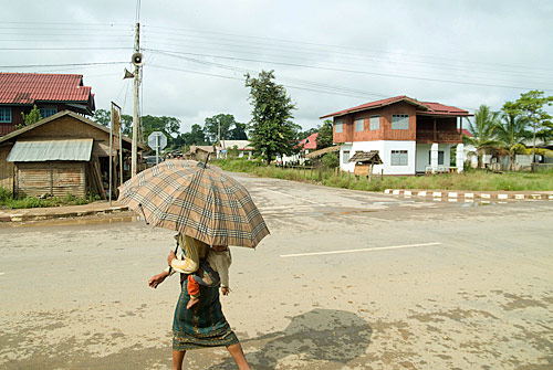 Calle principal de Vieng Phouka