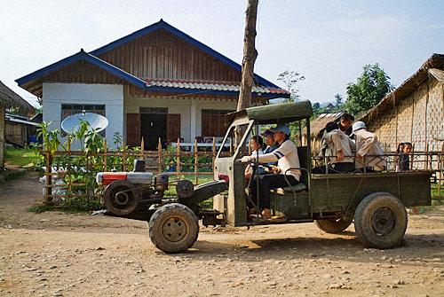 Original vehículo para desplazarse hasta el campo