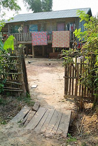 Detalle de la entrada a una casa