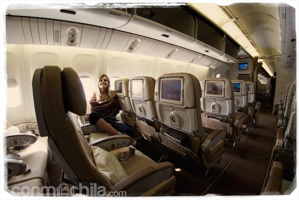 Un avión casi para nosotros solos