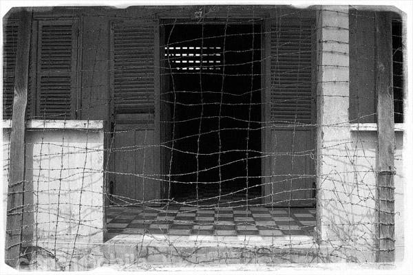 Entrada de una de las salas de tortura