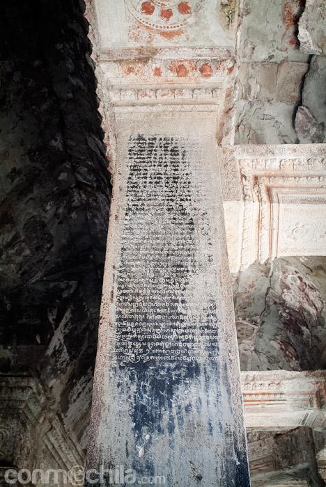 Columnas con inscripciones jemeres