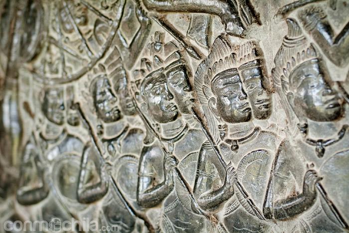 Soldados del antiguo imperio jemer
