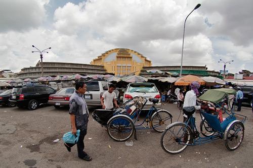 La parte exterior del mercado central