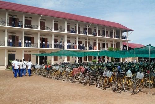 Centro escolar construido por la ONG