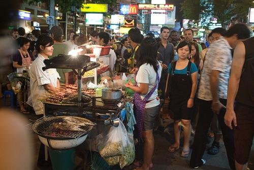Puestos de comida en Khaosan
