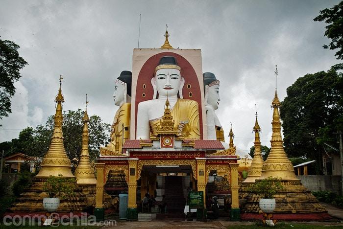 Los 4 Budas sentados de Kyaik Pun Paya