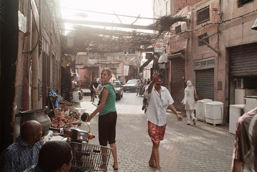 Calles fuera de la Medina de Marrakech