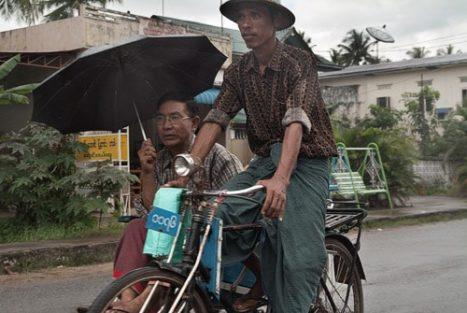 Trishaw en Bago