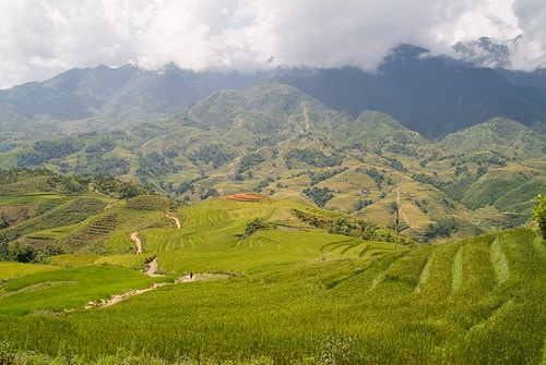 Primeras vistas en un trekking por Sapa