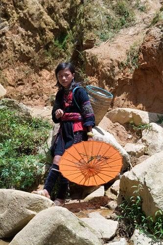 Una joven hmong