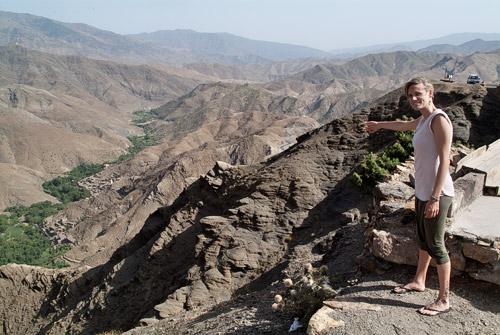Vistas desde arriba de la montaña