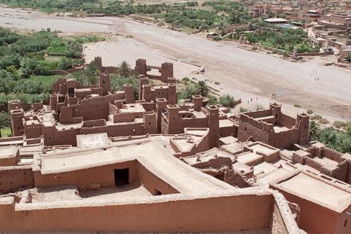 Vistas desde lo alto de la kasbah