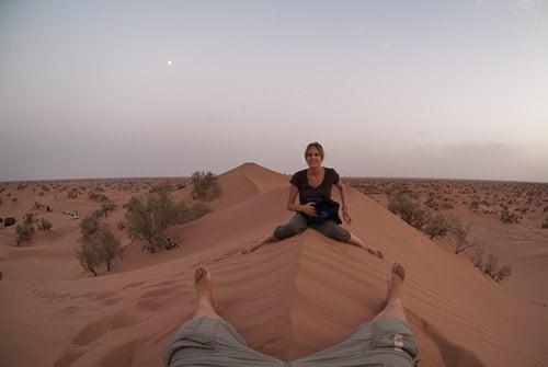 Se nos terminaba la luz encima de la duna