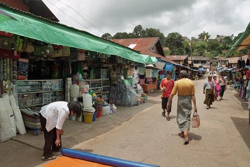 Una parte del mercado de Kalaw