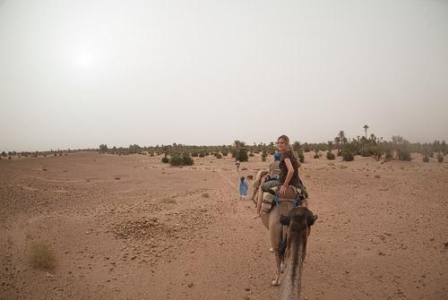 Camino de vuelta por el desierto del Sahara