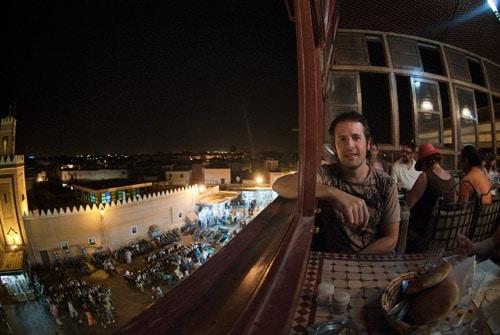 Vistas desde el balcón del restaurante