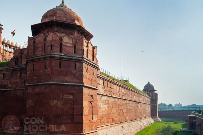 La muralla del fuerte rojo de Delhi