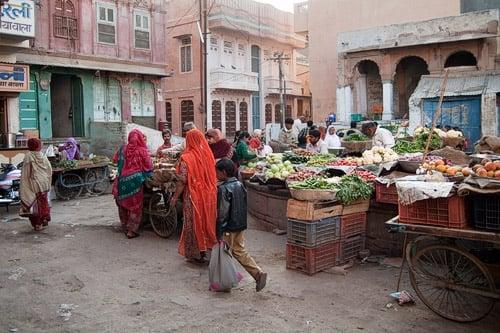 Mercado de las especias de Bikaner