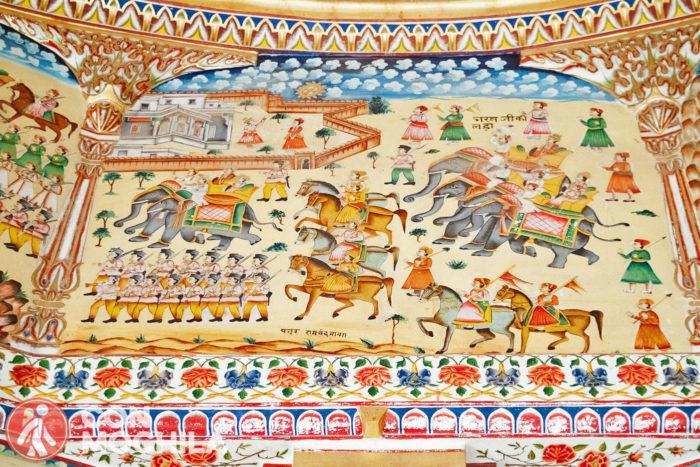 Batallas con caballos y elefantes