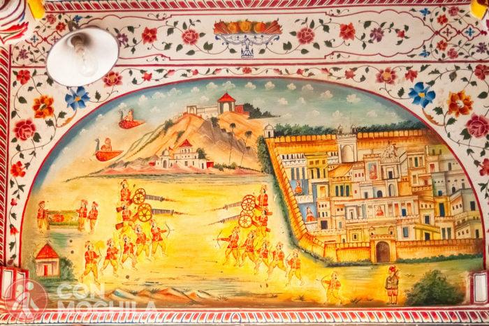 Pintura en el templo