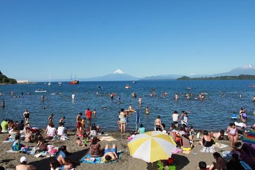 Otra vista del volcán desde Puerto Varas