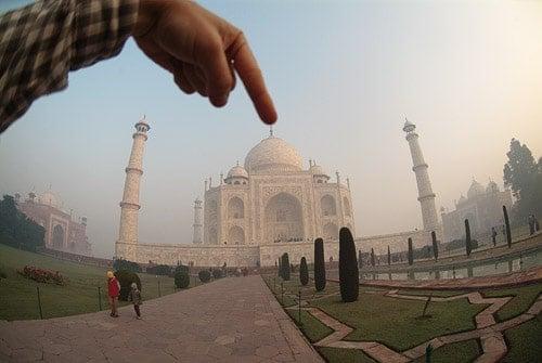Y aquí la parte más alta del Taj mahal