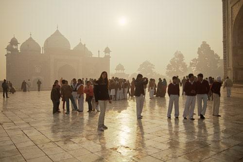 Nos despedimos del Taj Mahal