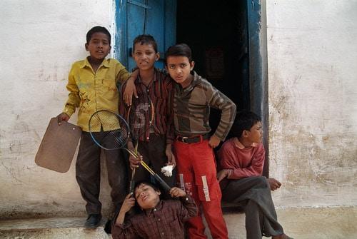 """El """"badminton team"""" de Khajuraho"""