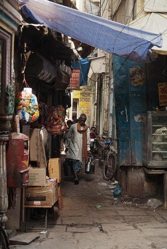 Interior de la calle Ganga Mahal