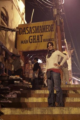 Las escaleras que bajan al Dasawamedh Ghat