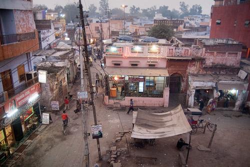 Panorámica del barrio musulmán de Agra