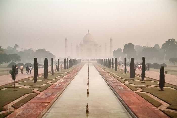 El Taj Mahal a primera hora del día