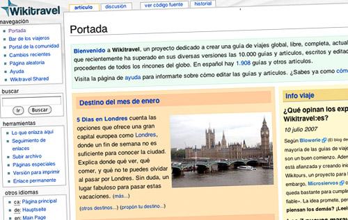 Wikitravel, una de las webs de ayuda al viajero