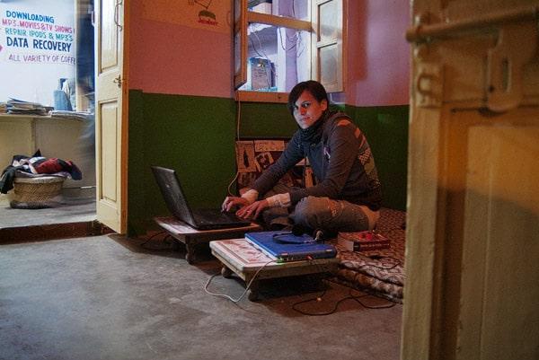 Cibercafé en Jaisalmer