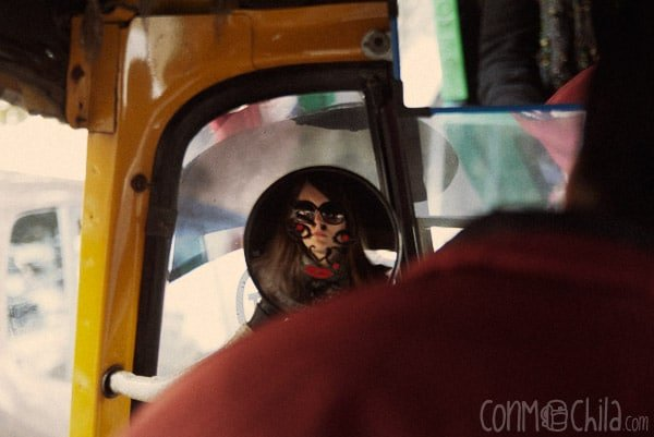 """Foto """"artística"""" en un rickshaw"""