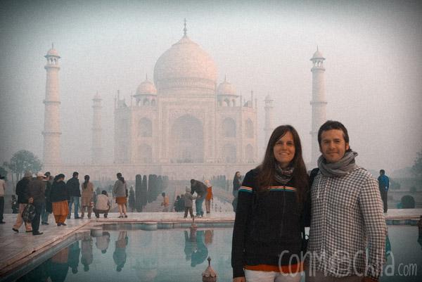 Pelé y melé en el Taj Mahal