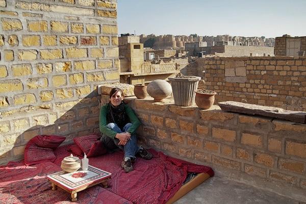 Un pequeño colchón con vistas al Palacio de Jaisalmer