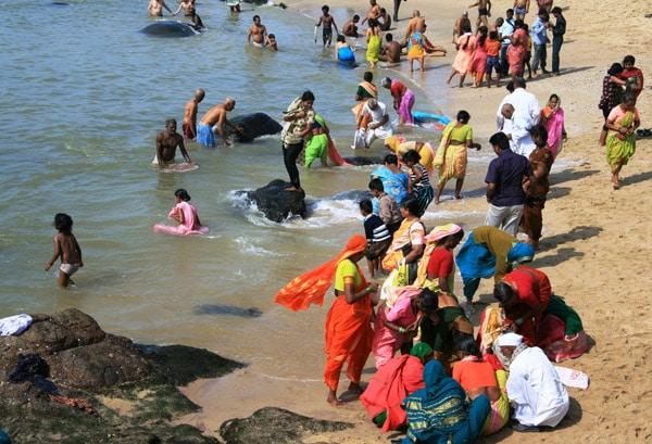 Itinerario de viaje a India: Kanyakumari (en la playa)