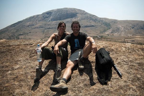Carme y Toni en la reserva de Anja