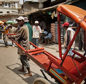 Pousse pousse Madagascar