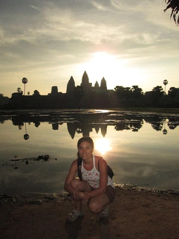 Itinerario de viaje a Camboya: Puesta de sol en Angkor Wat