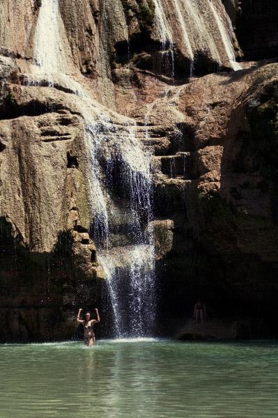 Otra vista de la cascada