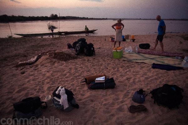 El campamento del final de cada jornada