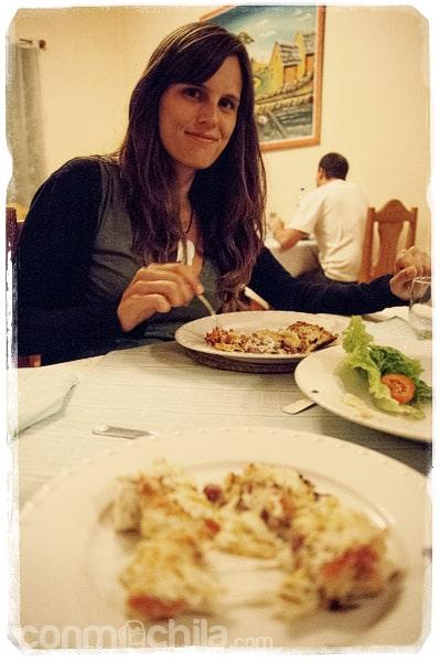 Buena comida en el hotel-restaurante Jonathan