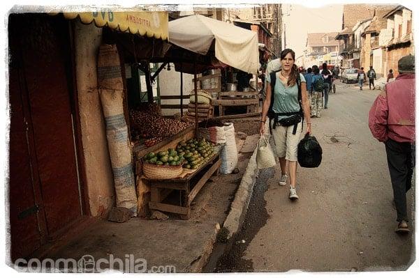 Camino de la estación de taxi-brousse de Ambositra