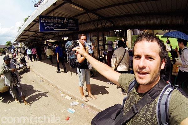 Camino hacia el cuño de salida de Tailandia